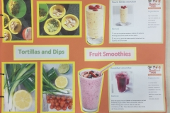 Tortillas, Dips and Smoothies
